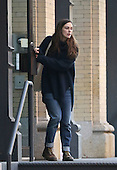 Actress Keira Knightley leaves her Tribeca apartment