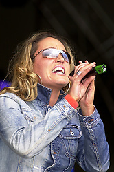 Former N-Trance vocalist and solo artist Kelly Llorenna plays at Party in the Park Temple Newsam Leeds 2 July 2003<br /> <br /> Image Copyright Paul David Drabble<br /> 20 July 2003