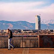 Il grattacielo della Regione Piemonte poco distante dal polo fieristico del Lingotto, nel quartiere di Nizza Millefonti a Torino. Sarà il futuro palazzo unico della Regione Progettato dall'architetto italiano Massimiliano Fuksas.<br /> Torino Febbraio 2016