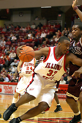 18 January 2004  Najeeb Echols works towards the bucket. Illinois State University Redbirds host the Southwest Missouri State Bears at Redbird Arena in Normal IL