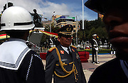 La Paz Bolivia.<br />March 23 is Bolivia's 'Maritime Day', in which they commemorate the loss of their access to the ocean to Chile. The Bolivian government has sought to regain access to the sea, and still maintains naval personnel.