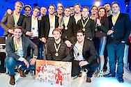 Uitreiking Sportprijs Utrecht 2014 at Jaarbeurs Utrecht: (L-R) Waterpolo team UZSC winnaar van Utrechtse sportploeg 2014 uit Utrecht