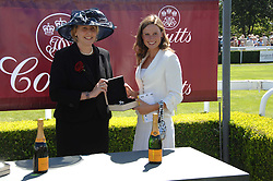 Left to right, SARAH DEAVES, UK Chief Executive, Coutts and FRANCESCA CUMANI at the 4th day of the Glorious Goodwood racing festival 2007 held at Goodwood Racecourse, West Sussex on 3rd August 2007.<br /><br />NON EXCLUSIVE - WORLD RIGHTS