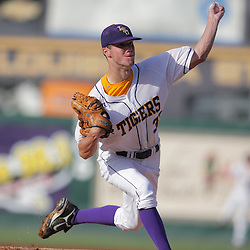 09 June 2008:  LSU starting pitcher Blake Martin #37 pitched 4.2 innings allowing two runs on five hits with three strikeouts on the evening. The LSU Tigers advanced to the College World Series with a 21-7 victory over the UC Irvine Anteaters in game three of the NCAA Baseball Baton Rouge Super Regional Alex Box Stadium in Baton Rouge, LA..