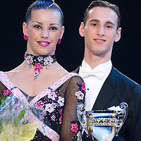 23 January 2010:  Stefania Vitacca and Salvatore Vitacca are seen during the Masters Bercy Latin and Ballroom (standard) Dancesport Championship 2010, at Palais Omnisports Paris Bercy, in Paris, France. .