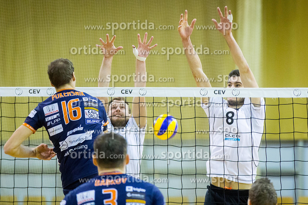 Primoz Vidmar of Calcit Volley during Volleyball match between AHC Volley and Calcit Volley in Round #4 of Slovenian first league, on December 28, 2017 in Hala Tivoli, Ljubljana, Slovenia. Photo by Ziga Zupan / Sportida