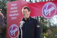 Dominic West in the celebrity area ahead of the Green Start at The Virgin Money London Marathon 2014 on Sundy 13 April 2014<br />