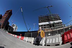 UK ENGLAND LONDON 21APR15 - Architect Barbara Weiss, co-founder of the Skyline Campaign poses for a photo in the Nine Elms area, designated for large-scale residential towers development.<br /> <br /> jre/Photo by Jiri Rezac<br /> <br /> © Jiri Rezac 2015