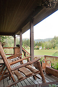A view from the porch of the cottage at Leaping Lamb Farm.