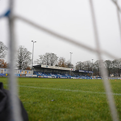 TELFORD COPYRIGHT MIKE SHERIDAN A general view of Nethermoor during the Buildbase FA Trophy 3Q fixture between Guiseley and AFC Telford United at Nethermoor Park on Saturday, November 23, 2019.<br /> <br /> Picture credit: Mike Sheridan/Ultrapress<br /> <br /> MS201920-031