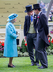 The Queen with Prince Harry at Royal Ascot. Image ©Licensed to i-Images Picture Agency. 19/06/2014. Ascot, United Kingdom. Royal Ascot. Ascot Racecourse. Picture by i-Images
