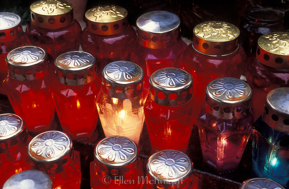 Votive Candles at a Chapel in Opatija, Croatia