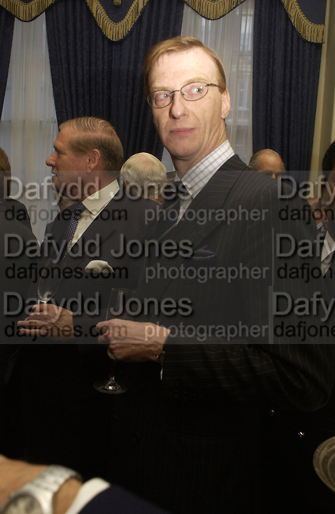 Dr. Graham Rhodes Barbershop: Truefitt & Hill  200th anniversary Bollinger champagne breakfast. Carlton Club, 69 St James's Street, London, SW1, 27 October 2005. October 2005. ONE TIME USE ONLY - DO NOT ARCHIVE © Copyright Photograph by Dafydd Jones 66 Stockwell Park Rd. London SW9 0DA Tel 020 7733 0108 www.dafjones.com