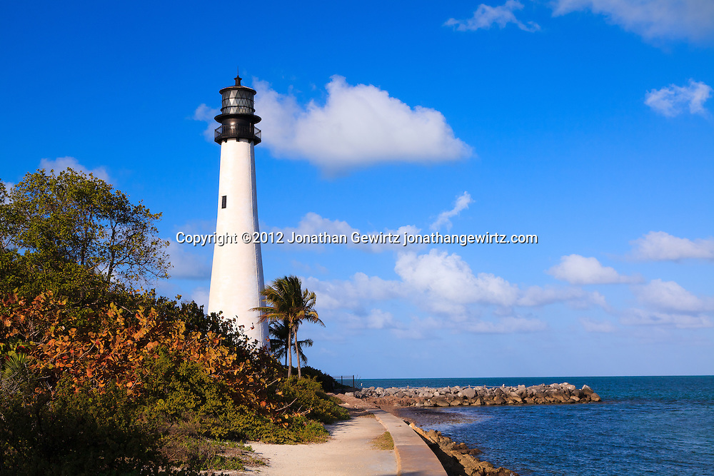 The Cape Florida Lighthouse in Bill Baggs Cape Florida State Park, Key Biscayne, Florida, was built in 1825 and is the oldest building in South Florida. WATERMARKS WILL NOT APPEAR ON PRINTS OR LICENSED IMAGES.