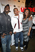 l to r: Young LA, T. I. and Danyel Smith at The Vibe Magazine private reception in honor of Grammy Award winning Superstar artist and actor, T.I held at The Eldrige on February 9, 2009 in New York City