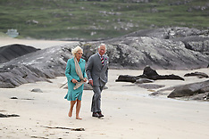 The Prince of Wales and Duchess of Cornwall walk on Derrynane beach - 15 June 2018