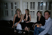 Henrietta Clarke Hall, Joanna Higgins, Amelia Higgins and George Lewis. LAUNCH OF 'UPSTAIRS' AT MAMILANJI. Hosted by Edward Taylor, Matthew Law, Milan lebloch and Geena Dutt.  107 King's Rd. London. 19 April 2007.  -DO NOT ARCHIVE-© Copyright Photograph by Dafydd Jones. 248 Clapham Rd. London SW9 0PZ. Tel 0207 820 0771. www.dafjones.com.