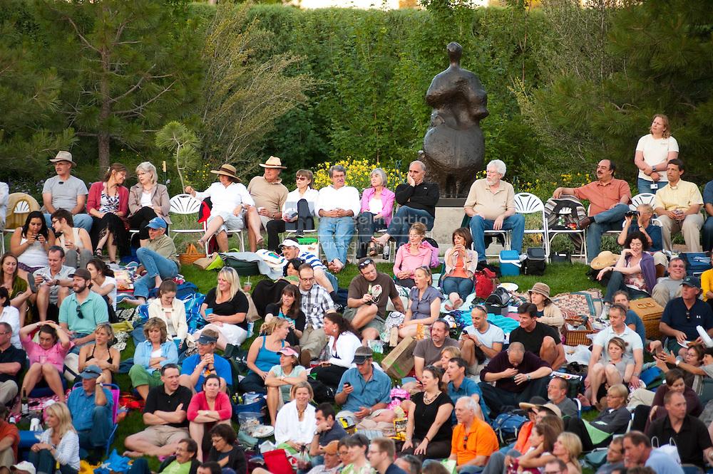 Steve Martin concert at Denver Botanic Gardens.