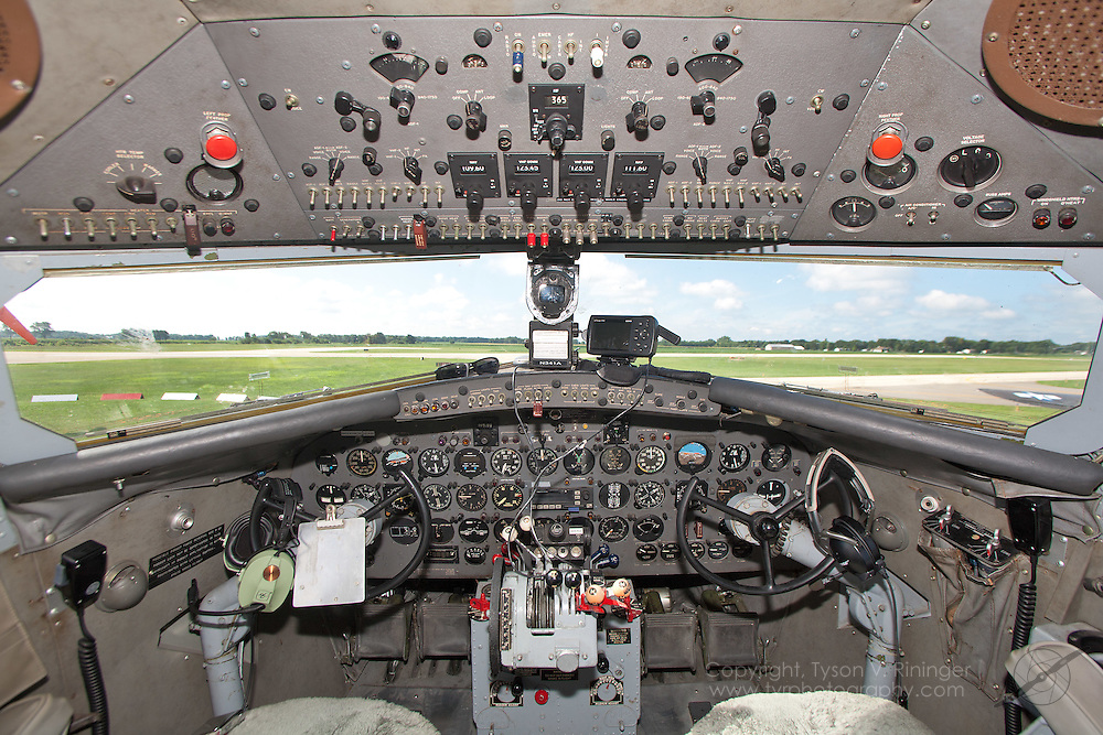 A view of the instrument panel inside the world's only C-41A, AF 40-70, N341A.