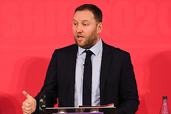 © Licensed to London News Pictures. 16/02/2020. London, UK. Labour Party deputy leadership candidate IAN MURRAY MP for Edinburgh South speaks at a hustings event hosted by the Co-operative Party held at Business Design Centre, north London. Photo credit: Dinendra Haria/LNP