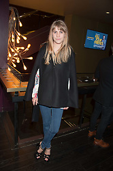 INDIA ROSE JAMES at the Al Films and Warner Music Screening of Kill Your Friends held at the Curzon Soho Cinema, 99 Shaftesbury Avenue, London on 27th October 2015.