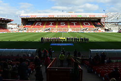 A general view of Ashton Gate during the Champions League game between Bristol Academy and FFC Frankfurt - Photo mandatory by-line: Dougie Allward/JMP - Mobile: 07966 386802 - 21/03/2015 - SPORT - Football - Bristol - Ashton Gate Stadium - Bristol Academy v FFC Frankfurt - UEFA Women's Champions League - Quarter Final - First Leg