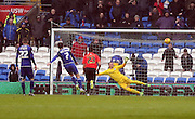 Cardiff City midfielder, Peter Whittingham (7) scores a fourth for Cardiff from the penalty spot during the Sky Bet Championship match between Cardiff City and Brighton and Hove Albion at the Cardiff City Stadium, Cardiff, Wales on 20 February 2016.