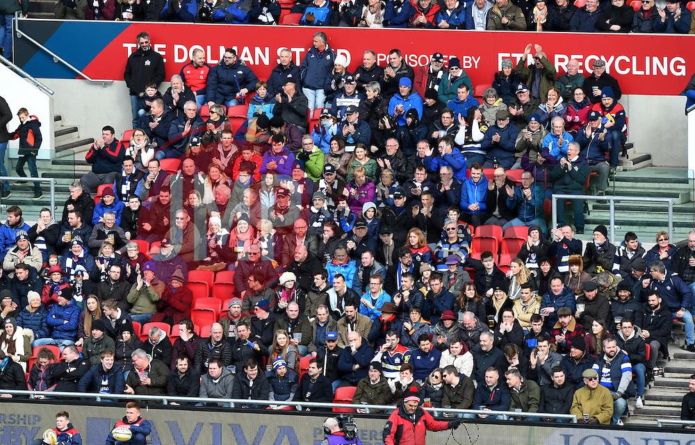Spectators at Ashton Gate - Mandatory by-line: Paul Knight/JMP - 26/02/2017 - RUGBY - Ashton Gate - Bristol, England - Bristol Rugby v Bath Rugby - Aviva Premiership