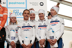 Third place finish for Cervélo Bigla at Postnord Vårgårda West Sweden Team Time Trial 2018, a 42.5 km team time trial in Vårgårda, Sweden on August 11, 2018. Photo by Sean Robinson/velofocus.com