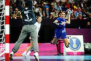 DESCRIZIONE : Handball Jeux Olympiques Londres Quart de Finale<br /> GIOCATORE : Ayglon Camille FRA<br /> SQUADRA : France Femme<br /> EVENTO : FRANCE Handball Jeux Olympiques<br /> GARA : France Montenegro<br /> DATA : 08 08 2012<br /> CATEGORIA : handball Jeux Olympiques<br /> SPORT : HANDBALL<br /> AUTORE : JF Molliere <br /> Galleria : France JEUX OLYMPIQUES 2012 Action<br /> Fotonotizia : France Handball Femme Jeux Olympiques Londres Quart de Finale Copper Box<br /> Predefinita :