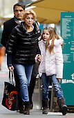 Carmen Thyssen with daughter shopping Andorra