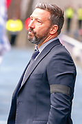 Aberdeen FC Manager Derek McInnes during the Ladbrokes Scottish Premiership match between Rangers and Aberdeen at Ibrox, Glasgow, Scotland on 27 April 2019.