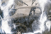 female driver sitting in a small little car France ca 1940s