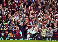 Photo: Ed Godden/Sportsbeat Images.<br /> West Ham United v Bolton Wanderers. The Barclays Premiership. 05/05/2007. West Ham's Carlos Tevez, celebrates after scoring the second goal.