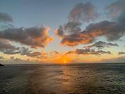 Sunset, Fatu Hiva, Marquesas, French Polynesia, South Pacific