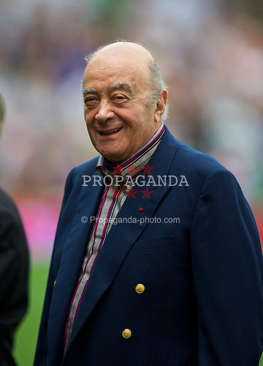 LONDON, ENGLAND - Sunday, August 22, 2010: Fulham's Chairman and Owner Mohamed Al Fayed before the Premiership match against Manchester United at Craven Cottage. (Pic by: David Rawcliffe/Propaganda)