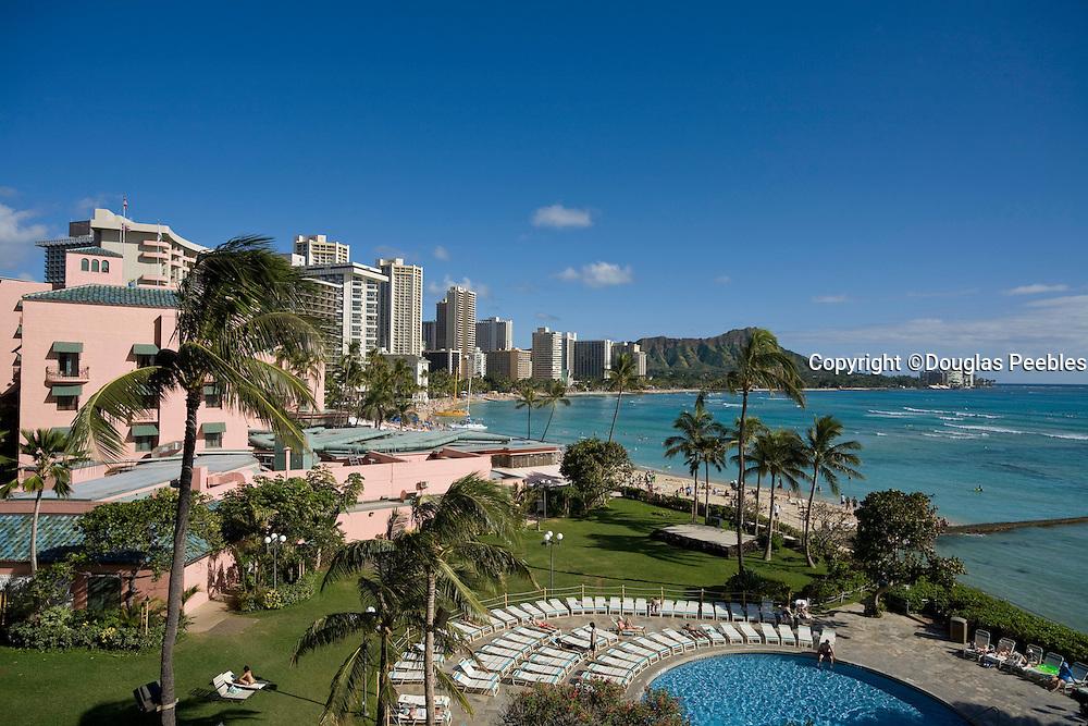 Waikiki Beach, Diamond Head, Oahu, Hawaii