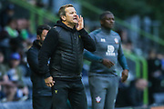 Forest Green Rovers manager, Mark Cooper  during the EFL Trophy match between Forest Green Rovers and U21 Southampton at the New Lawn, Forest Green, United Kingdom on 3 September 2019.