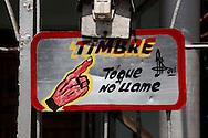 Door bell in Holguin, Cuba.