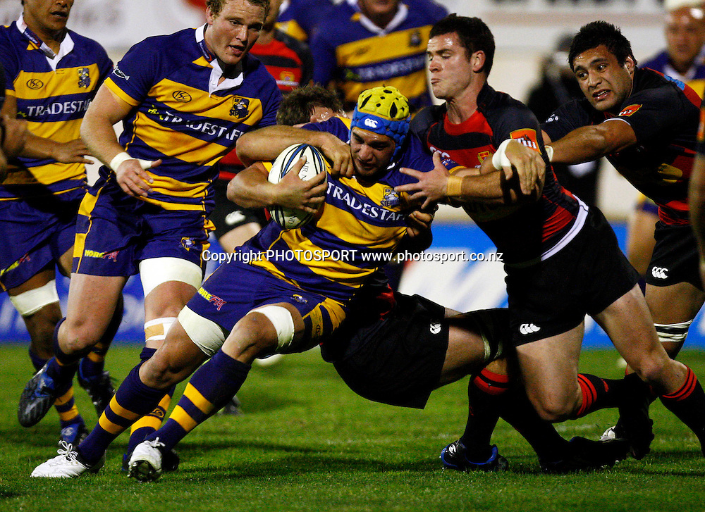 Bay no 8 Colin Bourke in action, Air NZ Cup, NPC rugby union. Bay of Plenty v Canterbury. Bay Park Stadium, Mt Maunganui. 5 September 2009. Photo: William Booth/PHOTOSPORT