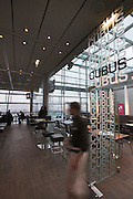 Linz, Cultural Capital of Europe 2009. Ars Electronica Center. CUBUS cafe?, restaurant and bar.