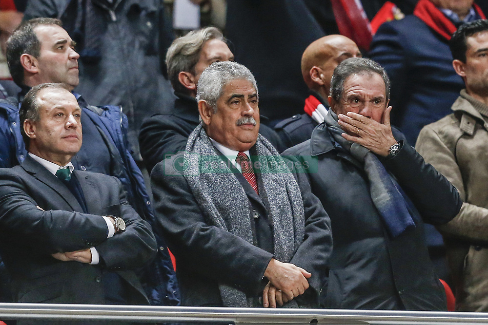 February 5, 2018 - Na - Lisbon, 03/02/2018 - Sport Lisboa e Benfica received this afternoon the Rio Ave at the Estádio da Luz in Lisbon, in game to count for the 21st day of the 2017/2018 Premier League. António Silva Campos; Luis Filipe Vieira; Humberto Coelho  (Credit Image: © Atlantico Press via ZUMA Wire)
