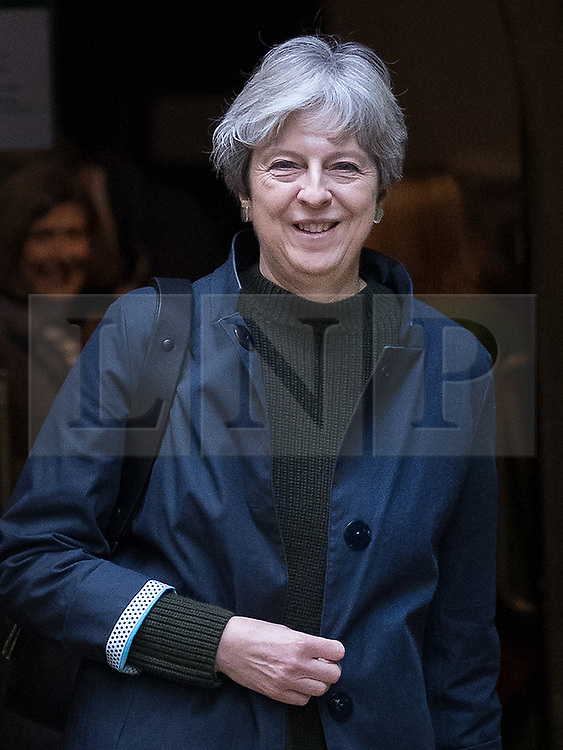 © Licensed to London News Pictures. 29/10/2017. Maidenhead, UK. Prime Minister Theresa May attends church in her constituency. Photo credit: Peter Macdiarmid/LNP