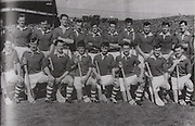 Cork-All-Ireland Hurling Champions 1966. Back Row: J Barrett (chairmann), D Murphy, T O'Donogue, J O'Halloran, A Connolly, P Doolan, M Waters, J McCarthy, P Fitzgerald, D Sheenan, J Bennett, J Barry (trainer). Front Row: J O'Sullivan, C Sheehan, P Barry, C McCarthy, G McCarthy (capt), S Barry, F O'Neill, J O'Leary.