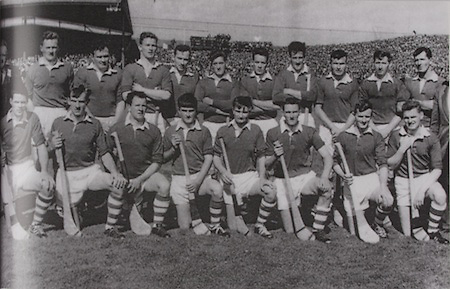Cork-All-Ireland Hurling Champions 1966. Back Row: J Barrett (chairmann), D Murphy, T O'Donogue, J O'Halloran, A Connolly, P Doolan, M Waters, J McCarthy, P Fitzgerald, D Sheenan, J Bennett, J Barry (trainer). Front Row: J O'Sullivan, C Sheehan, P Barry, C McCarthy, G McCarthy (capt), S Barry, F O'Neill, J O'Leary.