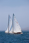 Wistful and Osprey, S Class, sailing in the Robert H. Tiedemann Classic Yachting Weekend race 1.