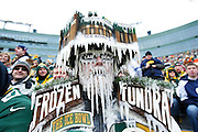GREEN BAY, WI - JANUARY 11: Green Bay Packers fan is seen during the NFC Divisional Playoff game against the Dallas Cowboys at Lambeau Field on January 11, 2015 in Green Bay, Wisconsin. The Packers defeated the Cowboys 26-21. (Photo by Joe Robbins/Getty Images)
