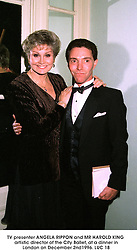 TV presenter ANGELA RIPPON and MR HAROLD KING artistic director of the City Ballet, at a dinner in London on December 2nd1996.LUC 18