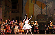 Don Quixote <br /> The Mariinsky Ballet <br /> at The Royal Opera House, London, Great Britain <br /> 2nd August 2011 <br /> <br /> presented by Victor Hochhauser<br /> <br /> Yevgenia Obraztsova (as Kitri)<br /> <br /> Photograph by Elliott Franks