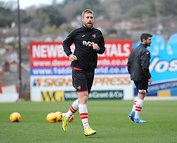 Exeter City's David Noble warms up prior to kick off. - Photo mandatory by-line: Alex James/JMP - Mobile: 07966 386802 - 10/01/2015 - SPORT - football - Exeter - St James Park - Exeter City v Northampton - Sky Bet League Two